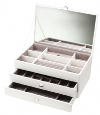 Dulwich Designs 70953 Boutique Large White Contempory Jewellery Box